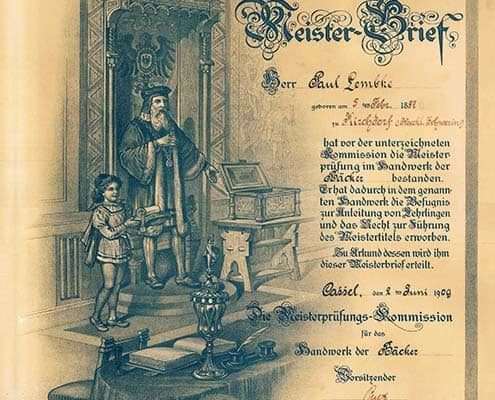 Confiserie Mellinia | Meisterbrief: Paul Lembcke